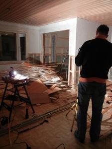 Purettu makuuhuone