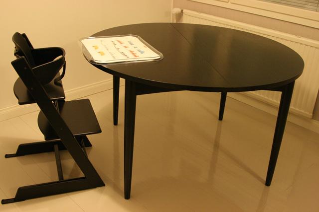 Maalattu pöytä 60-luvulta