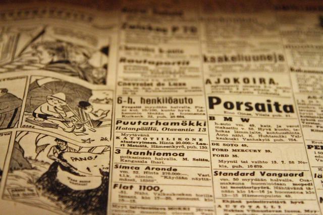Aamulehtiä vuosilta 1957 - 60