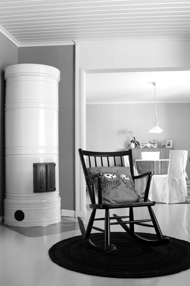 50-luvun talon helmiä: pönttöuuni